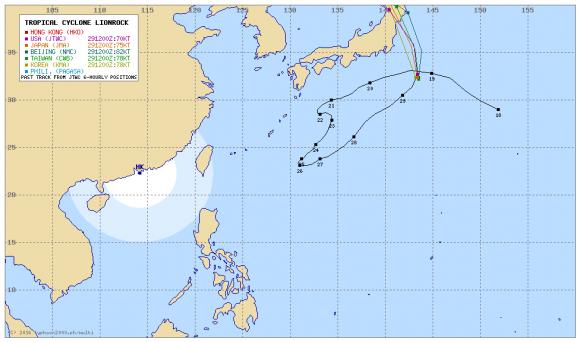 台風10号近隣アジア各国